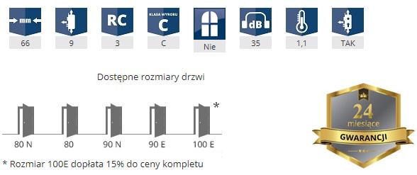 Parametry drzwi GerdaWX20