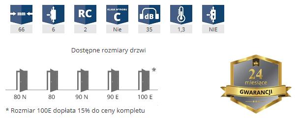 Parametry drzwi GerdaGWX20